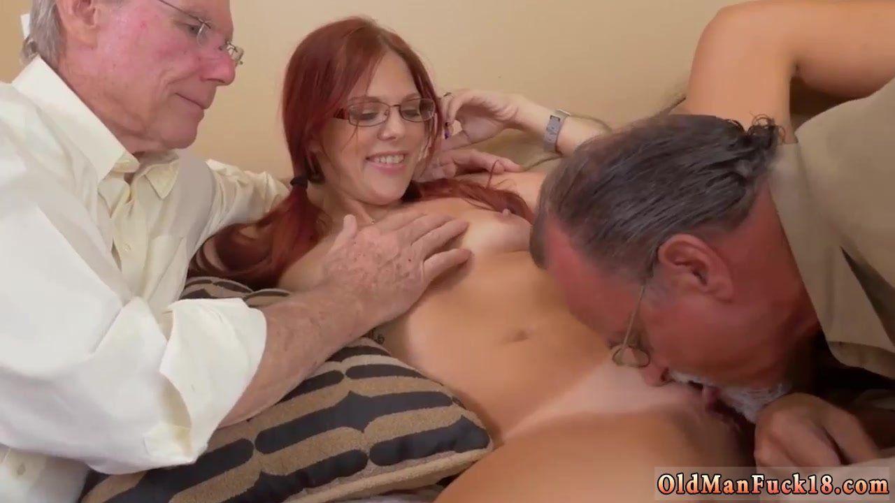 Old man creampie porn