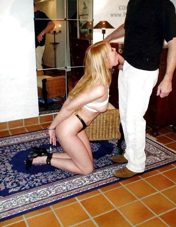 Handcuffed Blowjob