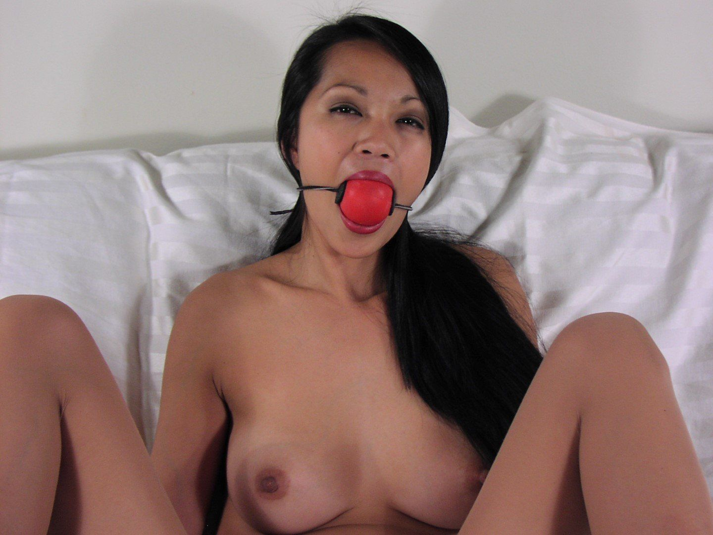 FLAK reccomend asian ball gag drool