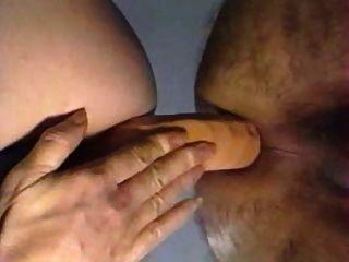Double dildo anal