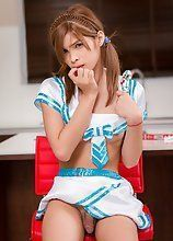 Teen femboy schoolgirl