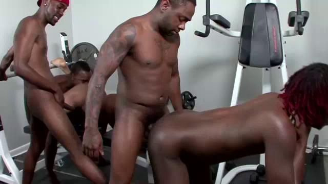 Ebony gym sex