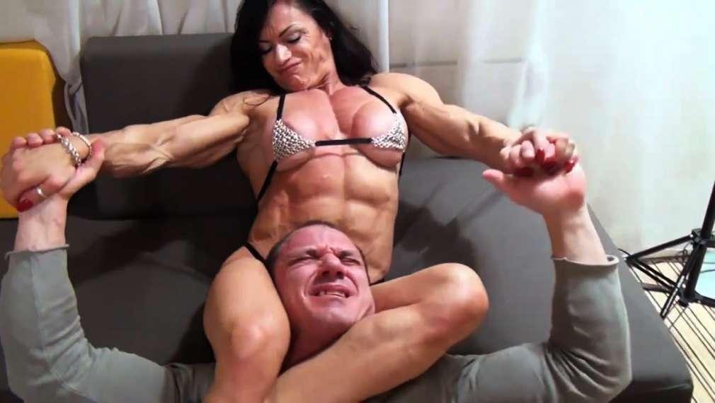 Muscular women domination videos