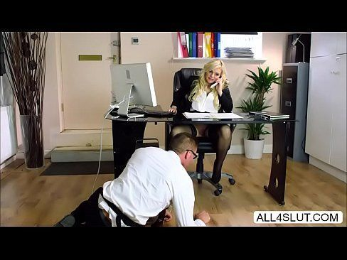 Eating Pussy Under Desk